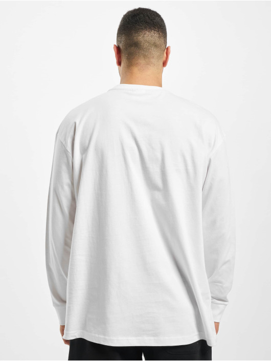 Urban Classics Longsleeves Boxy Big Contrast Pocket bialy