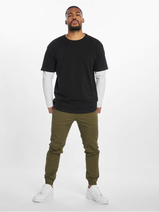 Urban Classics Longsleeves Oversized Shaped Double Layer czarny