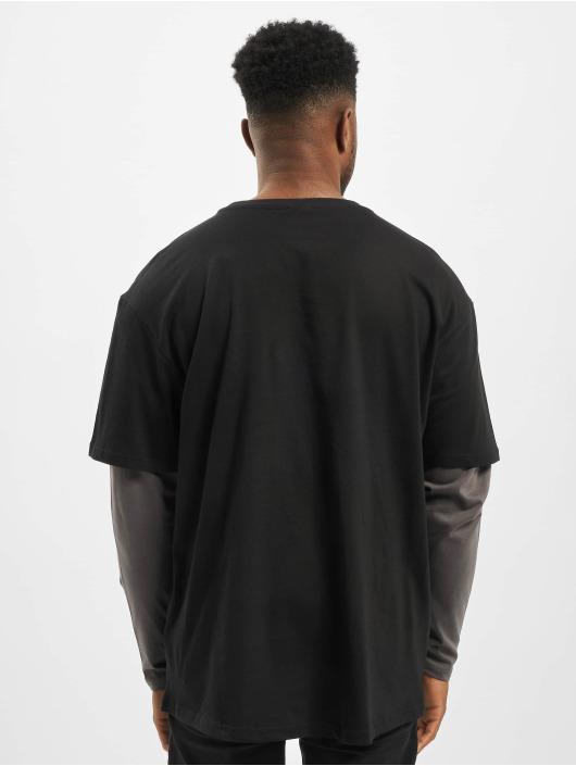 Urban Classics Longsleeves Oversized Shaped Double Layer czarny