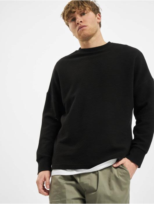 Urban Classics Longsleeves Cut On Sleeve Naps Interlock czarny