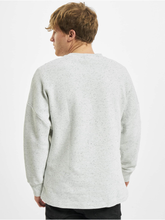 Urban Classics Longsleeves Cut On Sleeve Naps Interlock Crew szary