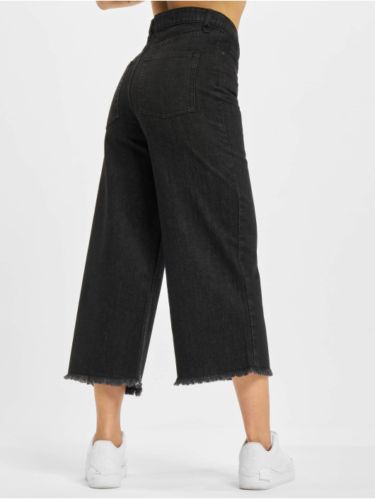 Urban Classics Loose Fit Jeans Denim Culotte black