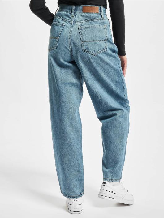 Urban Classics Loose fit jeans Ladies High Waist 90´s Wide Leg blauw