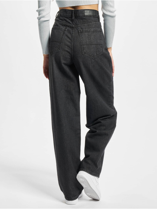 Urban Classics Loose Fit Jeans Ladies High Waist 90´s Wide Leg Denim sort