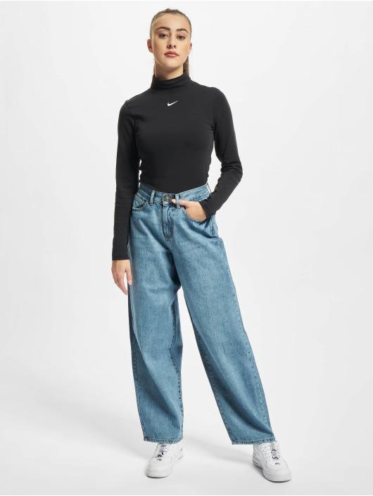 Urban Classics Loose Fit Ladies High Waist 90´s Wide Leg modrá