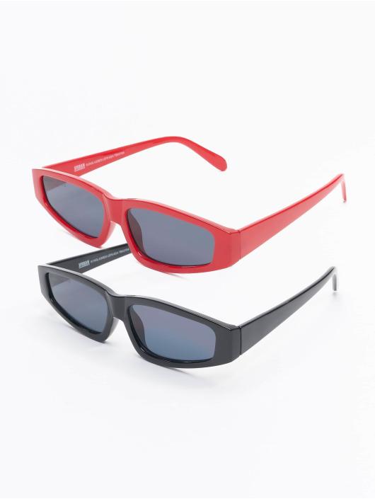 Urban Classics Lunettes de soleil Sunglasses Lefkada 2-Pack noir