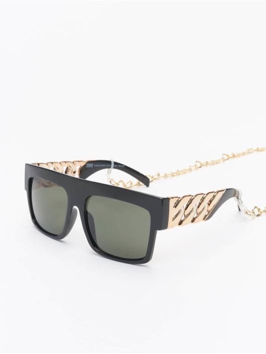 Urban Classics Lunettes de soleil Sunglasses Zakynthos With Chain noir