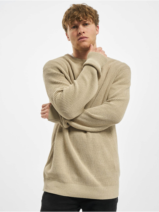 Urban Classics Maglia Cardigan Stitch beige