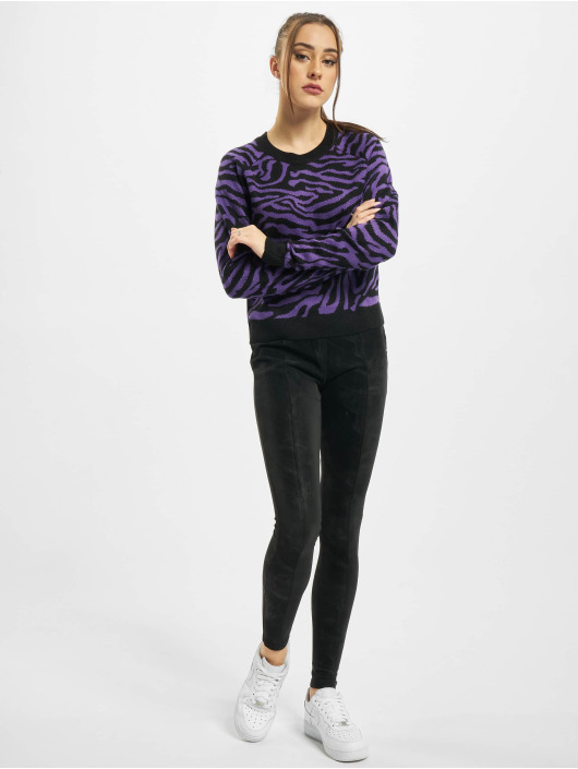 Urban Classics Maglia Ladies Short Tiger nero
