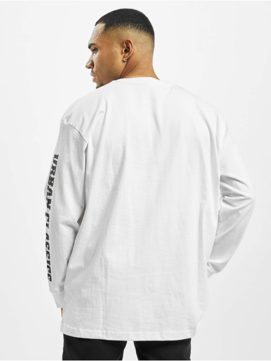 Urban Classics Maglietta a manica lunga Sleeve Logo Boxy Pocket bianco