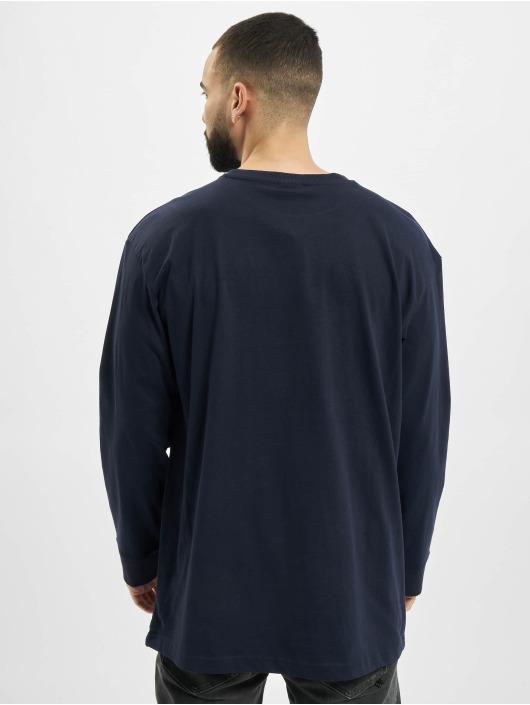 Urban Classics Maglietta a manica lunga Hiking Patch LS blu