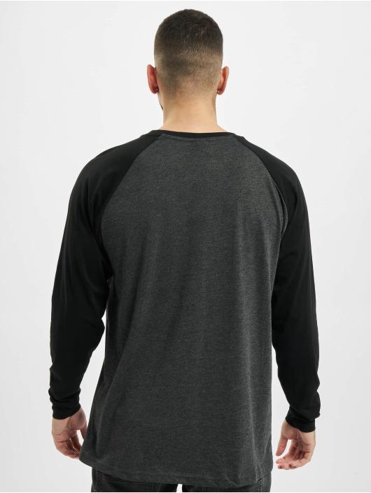 Urban Classics Maglietta a manica lunga Raglan Contrast LS grigio