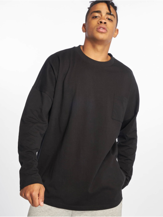Urban Classics Maglietta a manica lunga Oversized Cut On Sleeve Pocket nero