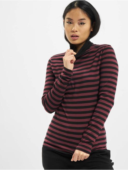 Urban Classics Maglietta a manica lunga Ladies Y/D Turtleneck LS rosso