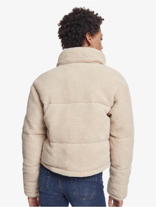 Urban Classics Manteau hiver Ladies Boxy Sherpa beige