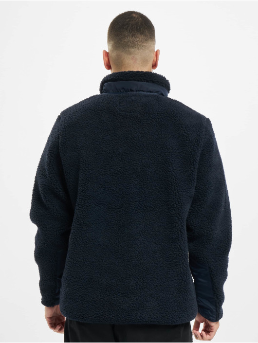 Urban Classics Manteau hiver Sherpa bleu