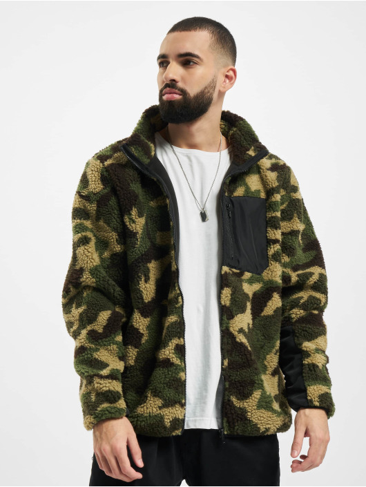 Urban Classics Manteau hiver Sherpa camouflage