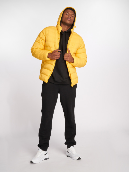 Urban Classics Manteau hiver Basic Bubble jaune