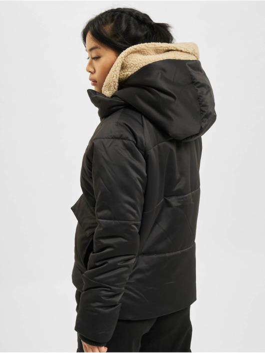 Urban Classics Manteau hiver Sherpa noir