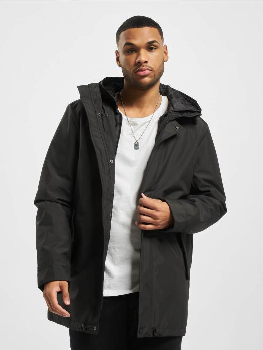 Urban Classics Manteau hiver Hooded Long noir