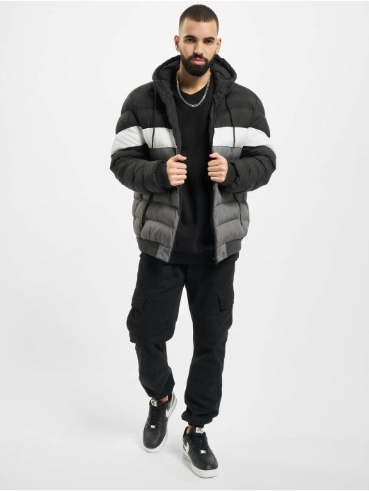 Urban Classics Manteau hiver Colorblock Bubble noir