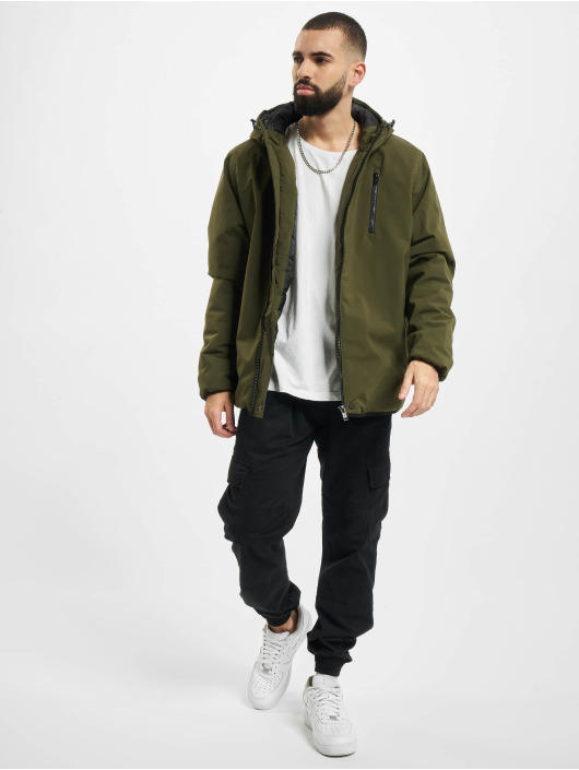 Urban Classics Manteau hiver Hooded Sporty olive