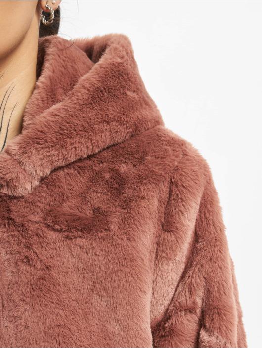 Urban Classics Manteau Hooded Teddy rose