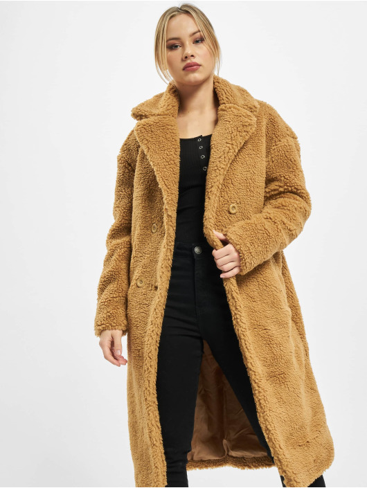 Urban Classics Mantel Ladies Oversized Teddy braun