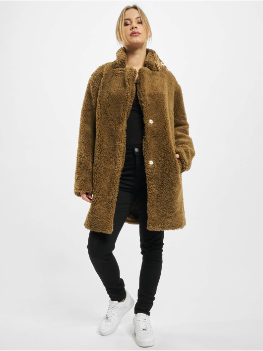 Urban Classics Mantel Ladies Oversized Sherpa braun