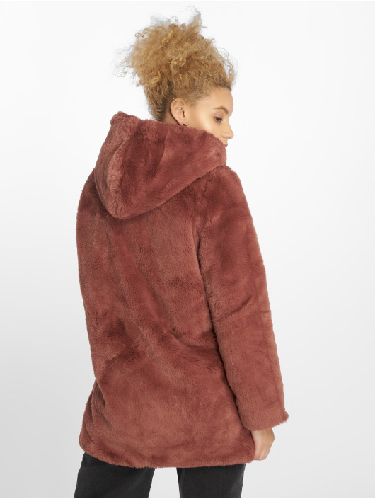 Urban Classics Mantel Hooded Teddy rosa