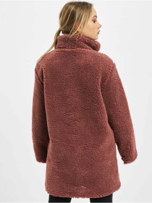 Urban Classics Mantel Ladies Oversized Sherpa rot