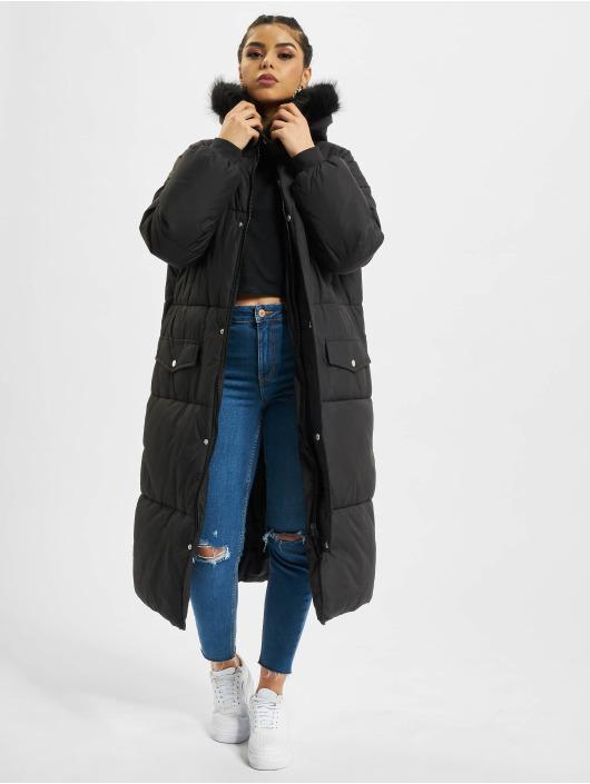 Urban Classics Mantel Oversize Faux Fur schwarz