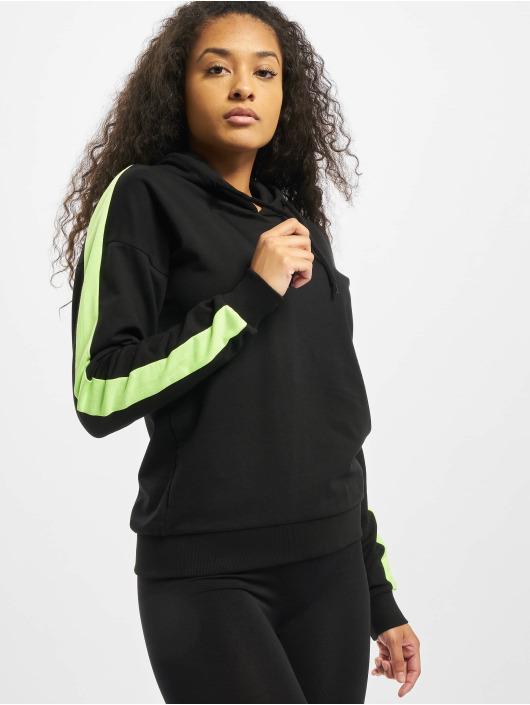 Urban Classics Mikiny Ladies Neon Shoulder Stripe èierna