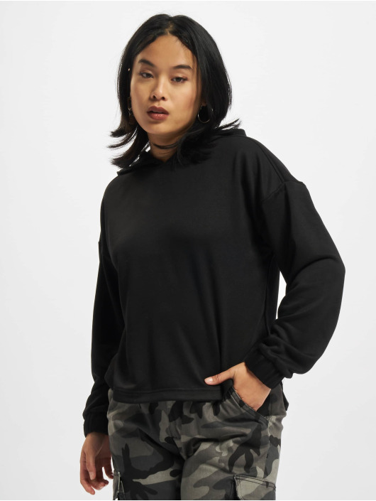 Urban Classics Mikiny Ladies Oversized Shaped Modal Terry èierna