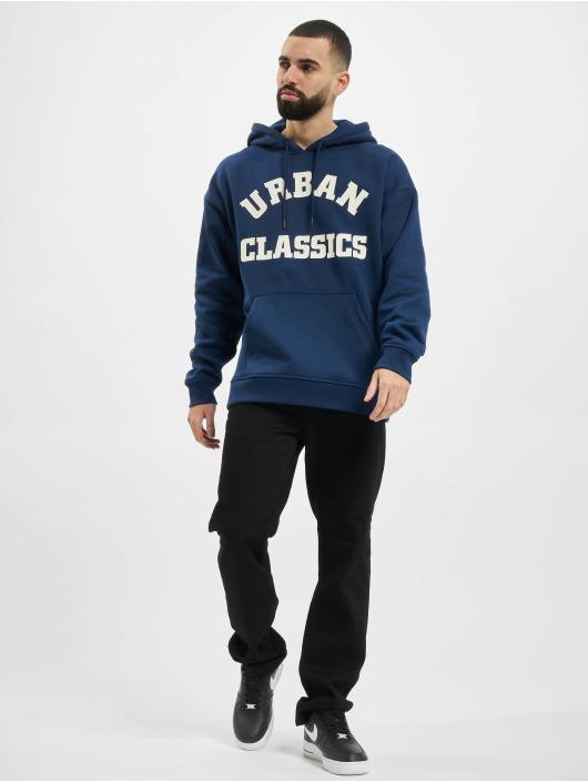 Urban Classics Mikiny College Print modrá