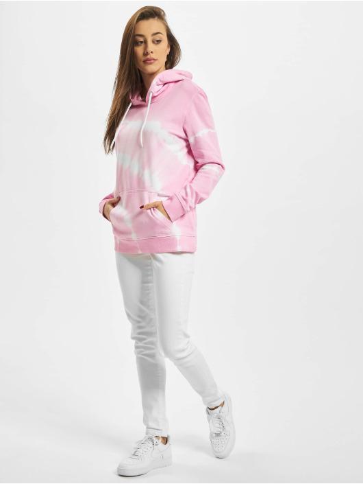 Urban Classics Mikiny Ladies Tie Dye pink