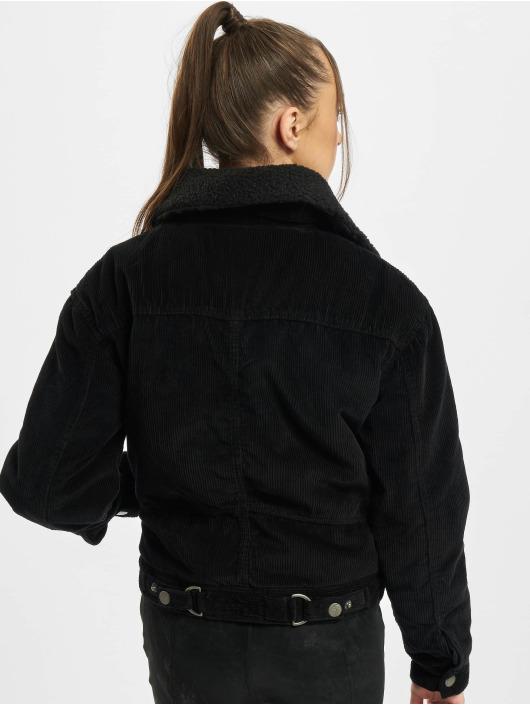 Urban Classics Övergångsjackor Ladies Oversized Corduroy Sherpa svart