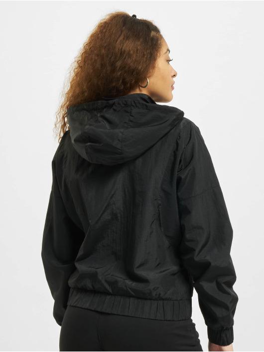 Urban Classics Övergångsjackor Oversized Shiny Crinkle Nylon svart