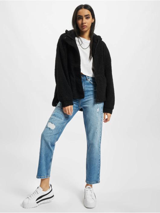 Urban Classics Övergångsjackor Ladies Short Sherpa svart