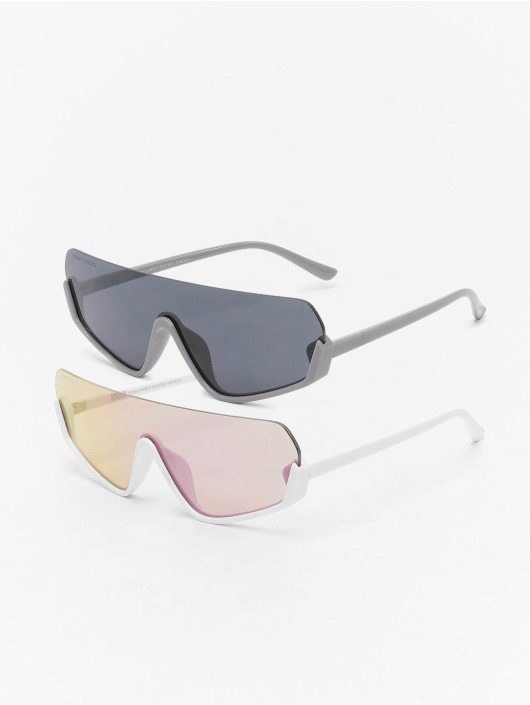 Urban Classics Okulary Spetses 2-Pack bialy