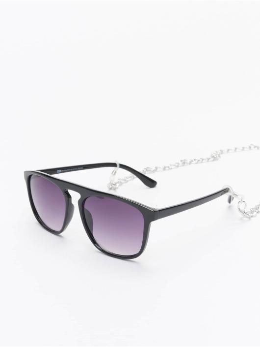 Urban Classics Okulary Sunglasses Mykonos With Chain czarny