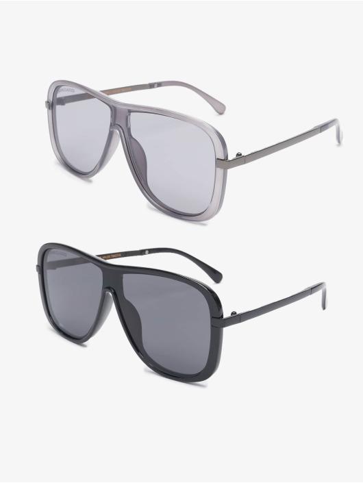 Urban Classics Okulary Sunglasses Milos 2-Pack czarny