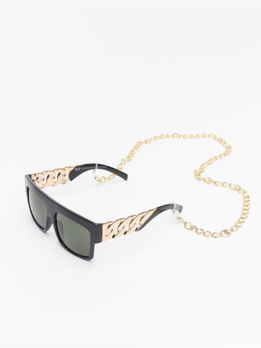 Urban Classics Okulary Sunglasses Zakynthos With Chain czarny