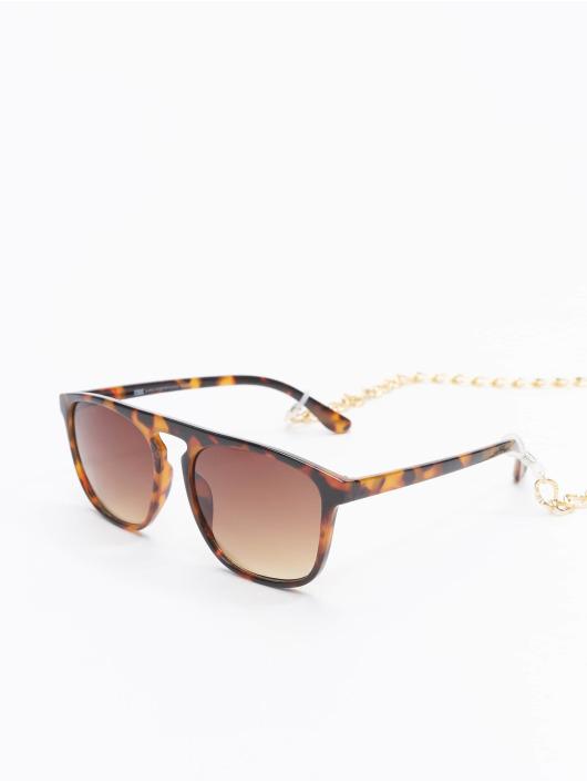Urban Classics Okuliare Sunglasses Mykonos With Chain hnedá