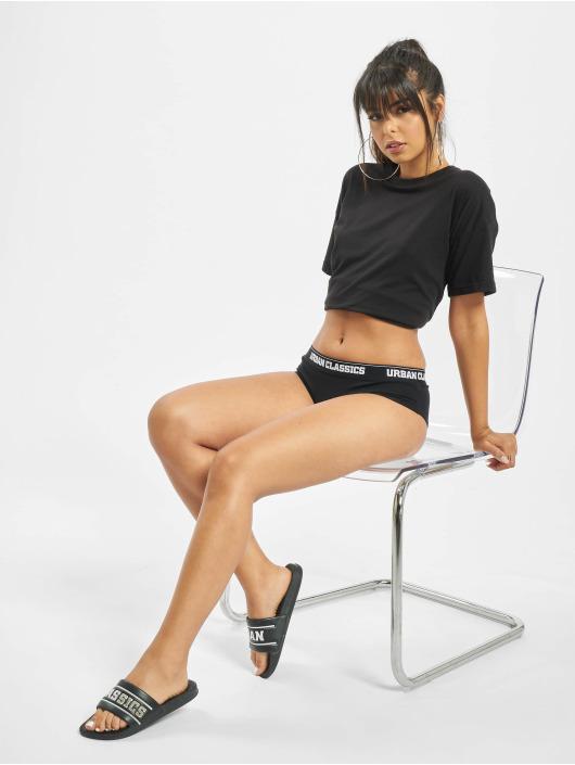 Urban Classics ondergoed Ladies Double Pack Logo zwart