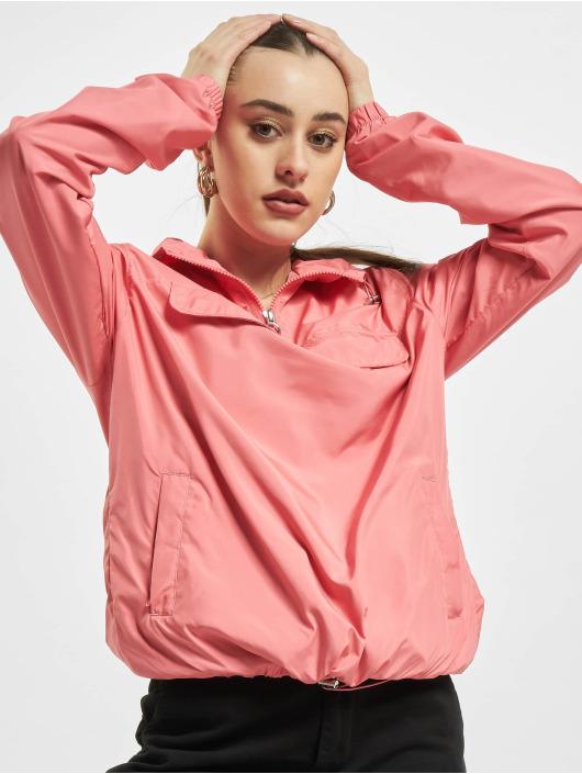 Urban Classics Overgangsjakker Ladies Basic Pull Over pink