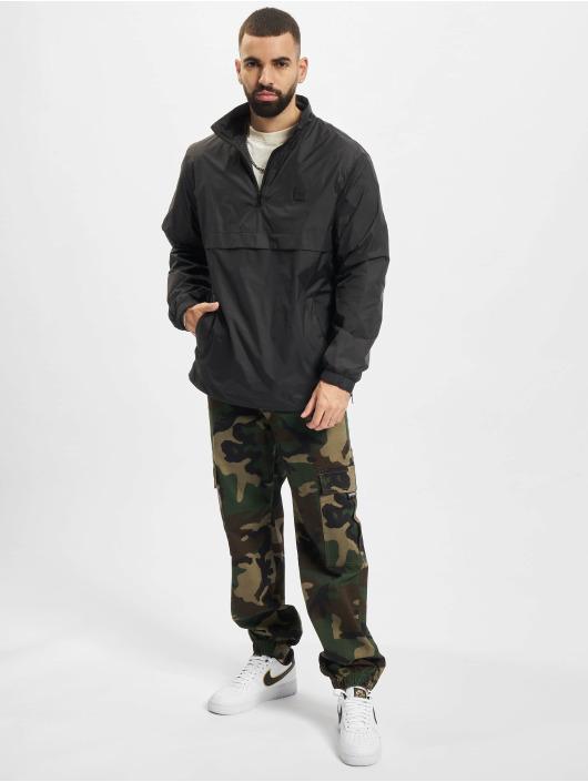 Urban Classics Overgangsjakker Stand Up Collar Pull Over sort