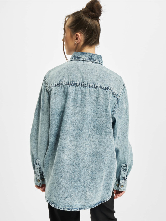 Urban Classics overhemd Oversized blauw