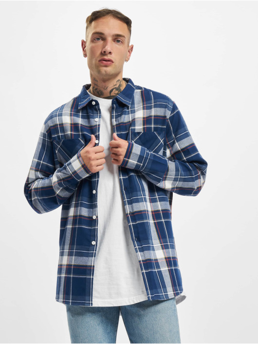 Urban Classics overhemd Check blauw