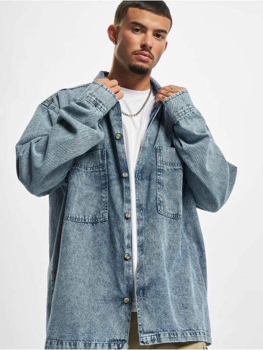 Urban Classics overhemd Oversized Denim blauw